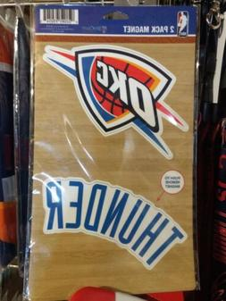 OKLAHOMA CITY THUNDER 2 PACK OF VINYL DIE-CUT MAGNETS HIGH Q