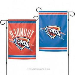 """Oklahoma City Thunder 2 Sided 12.5"""" x 18"""" Garden Flag  NBA B"""