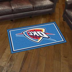 Oklahoma City Thunder 3' X 5' Decorative Ultra Plush Carpet