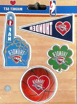 Oklahoma City Thunder 4-Pack Team Magnet Sheet Auto Home Hea