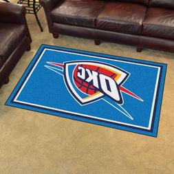 Oklahoma City Thunder 4' X 6' Decorative Ultra Plush Carpet