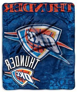 "Oklahoma City Thunder 50""x60"" Royal Plush Throw Blanket - Dr"