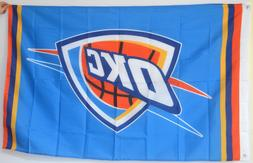 Oklahoma City Thunder Banner OKC 3x5 Ft Flag US seller