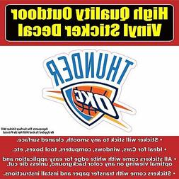 Oklahoma City Thunder Basketball Vinyl Car Window Laptop Bum