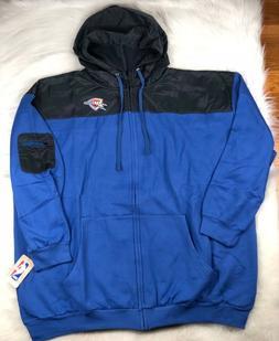 NBA Oklahoma City Thunder Big & Tall Full Zip Fleece Hooded