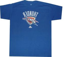 Oklahoma City Thunder Blue Primary Logo Adidas T Shirt Clear