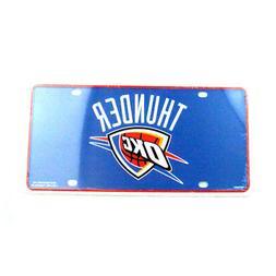 OKLAHOMA CITY THUNDER CAR TRUCK TAG LICENSE PLATE NBA BASKET