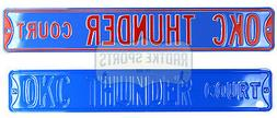 Oklahoma City Thunder Court Licensed Steel 36x6 Blue & Orang