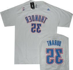 Oklahoma City Thunder Kevin Durant White Adidas T Shrt New C