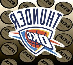 Oklahoma City Thunder Logo NBA Die Cut Vinyl Sticker Car Win