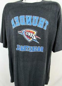 Oklahoma City Thunder Mens 2XL 4XL 6XL 3XT Screened Basketba