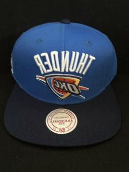 Oklahoma City Thunder Mitchell & Ness NBA Snapback Hat Logo