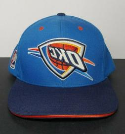 OKLAHOMA CITY THUNDER Mitchell & Ness Snapback Hat Blue Oran