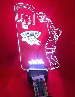 Oklahoma City Thunder NBA Basketball Player Light Up Lamp LE