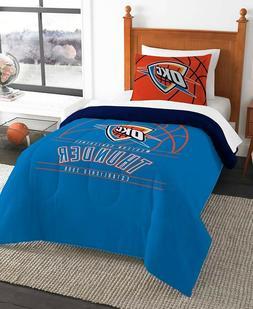 Oklahoma City Thunder NBA Basketball Twin Comforter & Pillow