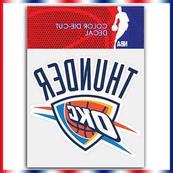 Oklahoma city thunder NBA Die Cut Vinyl Sticker Car Bumper W
