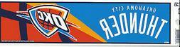 OKLAHOMA CITY THUNDER NBA LICENSED BUMPER STICKER NEW