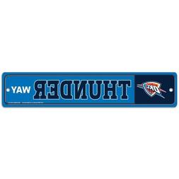 Oklahoma City Thunder Wincraft NBA Street Sign 3.75x19 FREE