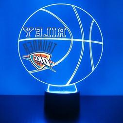Oklahoma City Thunder Light, Personalized FREE, Basketball L