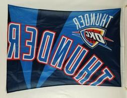 "Oklahoma City Thunder OKC NBA Banner / Flag 28"" x 42"""