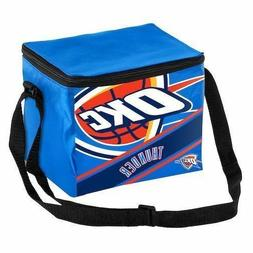 Oklahoma City Thunder OKC NBA Big Logo Stripe 12 Pack Cooler