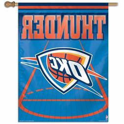 "Oklahoma City Thunder OKC NBA Wall Banner Vertical Flag 27"""