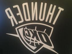 OKLAHOMA CITY THUNDER OKC NBA WHITE VINYL STICKER / DECAL