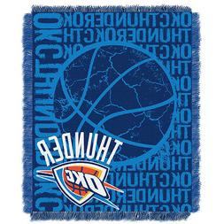 Oklahoma City Thunder OKC Woven Jacquard Tapestry Throw Blan