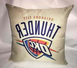"Oklahoma City Thunder Pillow Cushion Cover 17"" x 17"" Pillow"