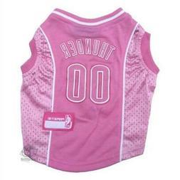 oklahoma city thunder pink pet jersey