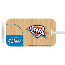 oklahoma city thunder plastic luggage tag bag