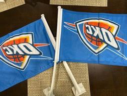 Oklahoma City Thunder Premium Car Flags. High Quality TWO FL