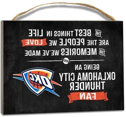 Oklahoma City Thunder Small Plaque - Best Things  NBA Sign W