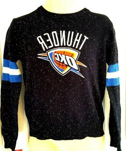 OKLAHOMA CITY THUNDER Sweater Size Large 14/16 Blue Speckled