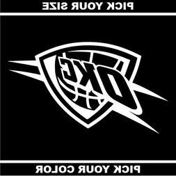 Oklahoma City Thunder Vinyl Sticker / Decal * Basketball * N