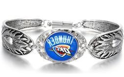 Oklahoma City Thunder Women's Sterling Silver Bracelet Baske
