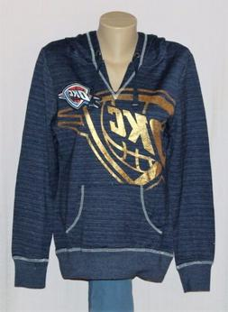 Oklahoma City Thunder Womens Hoodie Full Court Foil Hooded S