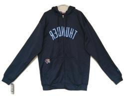 Oklahoma City Thunder XLT Full Zip Hooded Sweatshirt Majesti