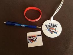 OKLAHOMA CITY THUNDERS Pens~Luggage Tag~Sticker~Bracelet Pac