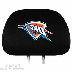 Pair of Oklahoma City Thunder Head Rest Covers NEW! NBA Truc