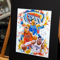 Russell Westbrook #0 - Oklahoma City Thunder - Unique Artwor