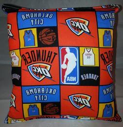 Thunder Pillow Oklahoma City Thunder Pillow NBA OKC Handmade